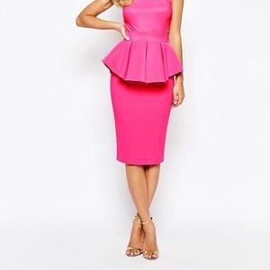 Fuschia Peplum Dress!!!!